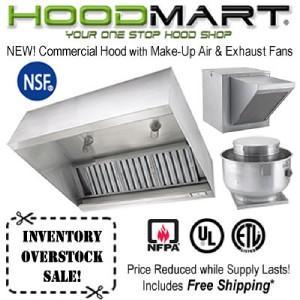 Commercial Kitchen Hood 4ft Restaurant Hood System W Make Up Air Exhaust Fans Ebay