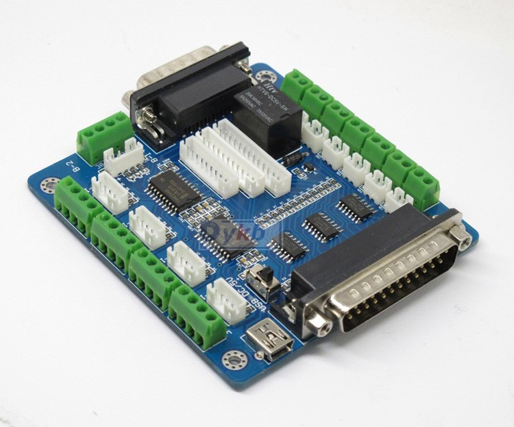 Usb 5 Axis Cnc Breakout Board Interface Adapter F Stepper