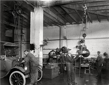Vintage Car Repair Shop Garage1919 Photo Nostalgic Antique Automobile    Old Auto Repair Shop