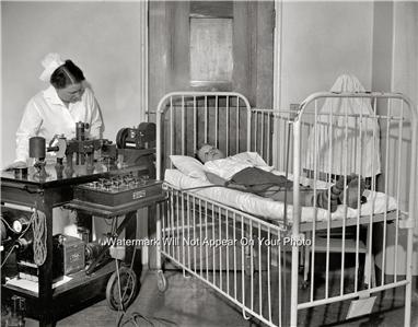 Nurse Doctor Old Medical Ekg Equipment Machine Childrens