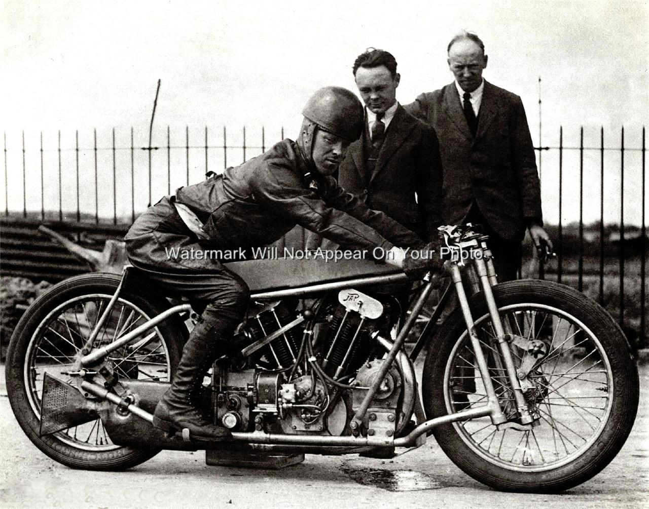 Rare J A P Motorcycle British United Kingdom V Twin
