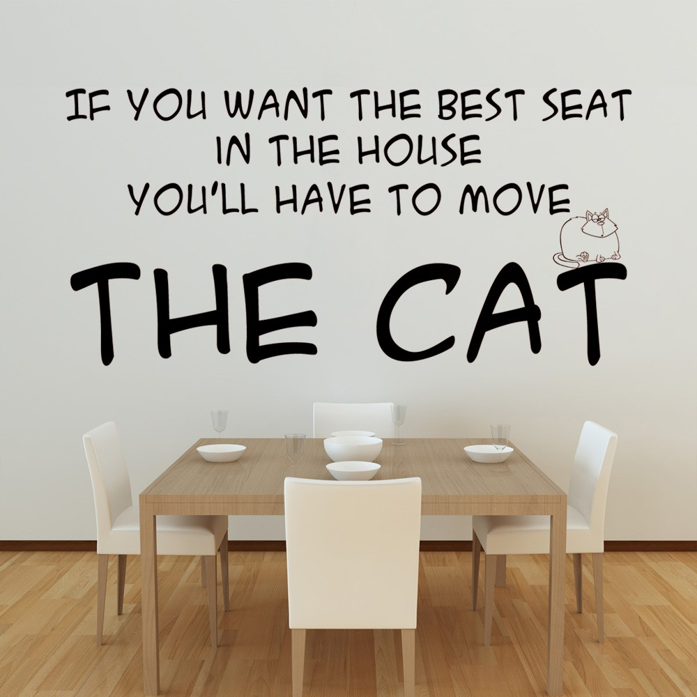 If you want the best seat wall decal quote sticker lounge for Dining room quote decals