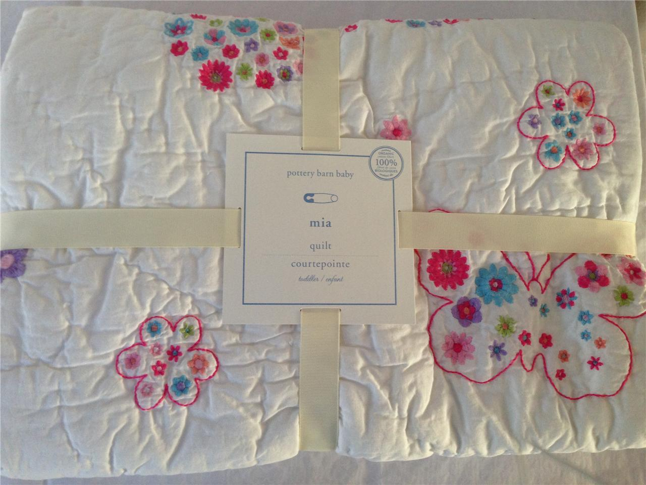 Pottery Barn Kids MIA Baby Toddler Crib Butterfly Quilt