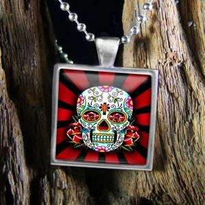 Dia De Los Muertos Day of the Dead Tattoo Skull Sterling Silver