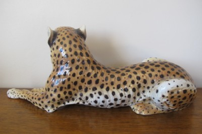 Deco Ronzan Lenci Artist Italian Pottery Cheetah Figure Ebay