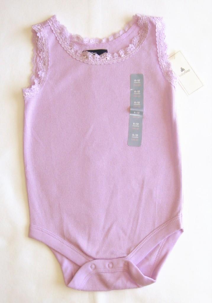 BABY GAP NWT GIRL CLOTHES Lace trim Bodysuit
