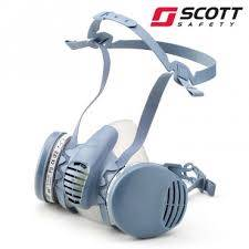 Scott-Profile-2-half-mask-respirator-dust-particulate-filters-set