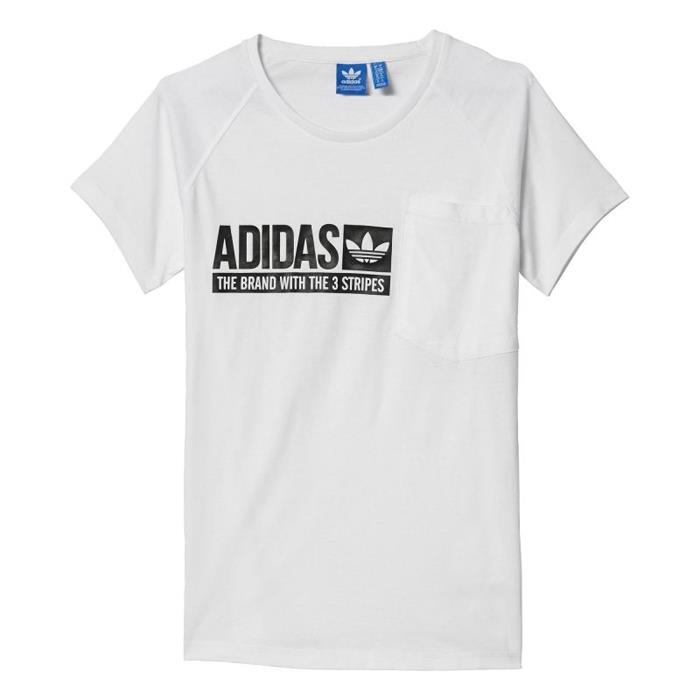 adidas originals the brand with 3 stripes t shirt