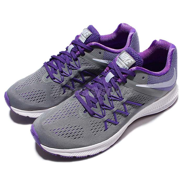 2016 jul nike zoom winflo 3 women's training running shoes - nike zoom winflo 3 womens grey purple