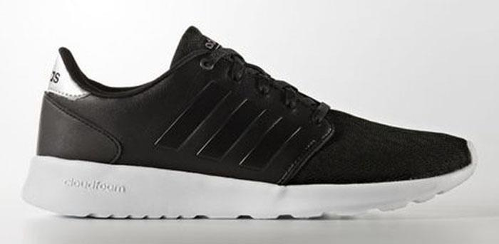 adidas neo cloudfoam qt racer women's shoes black