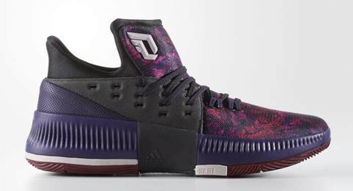 1705 adidas Dame 3 Florist City Men's Basketball Shoes B49509