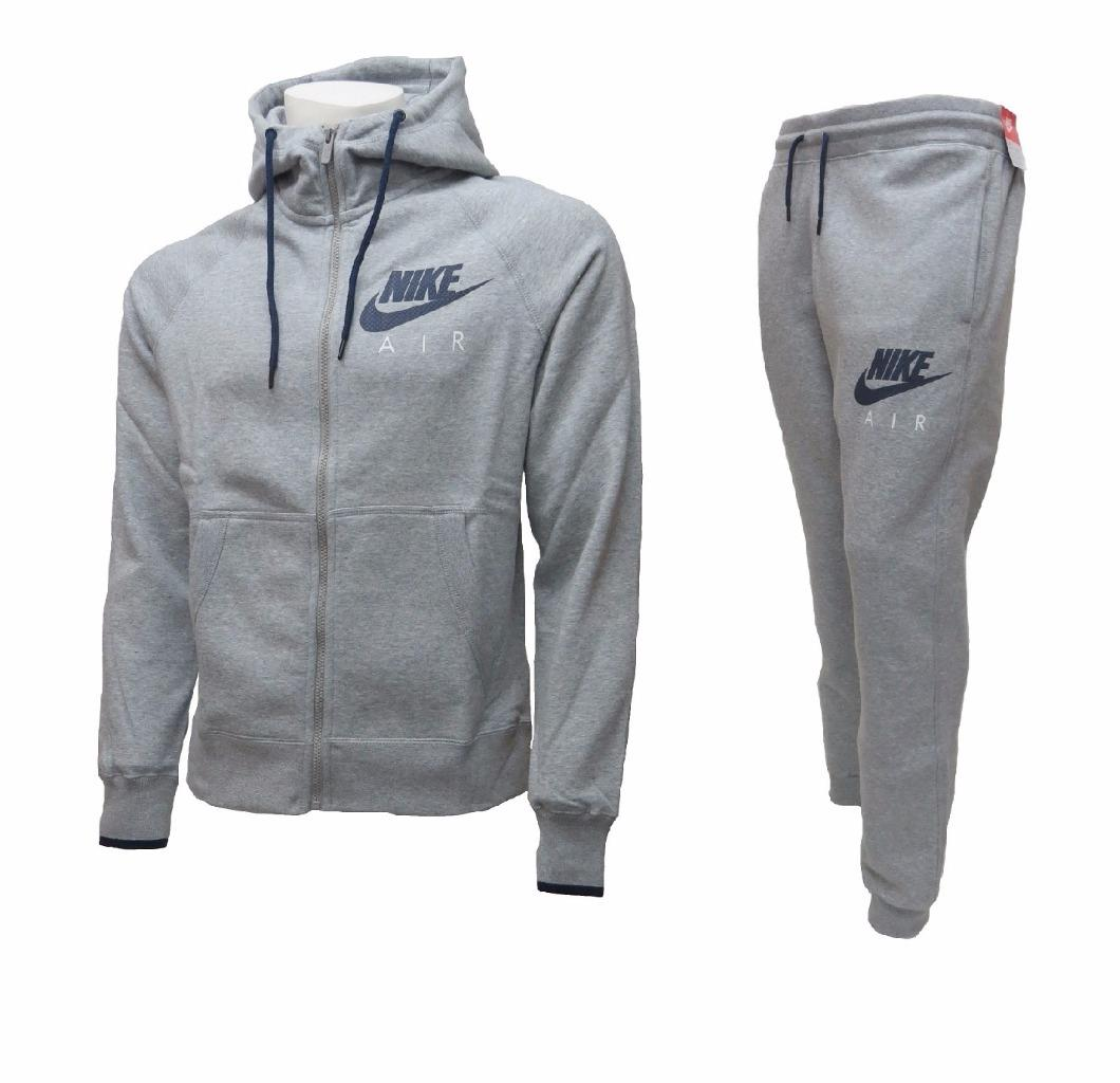 nike air mens fleece jog suit hooded swoosh tracksuit zip. Black Bedroom Furniture Sets. Home Design Ideas