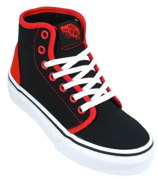 VANS-KIDS-106-HI-SKATEBOARD-SHOES-POP-BLACK-RED-NEW-AUSSIE-SELLER-FREE-POST