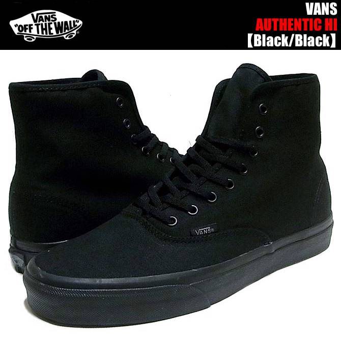 VANS-AUTHENTIC-HI-BLACK-SKATEBOARD-SHOES-MENS-NEW-AUSTRALIAN-SELLER-FREE-POST