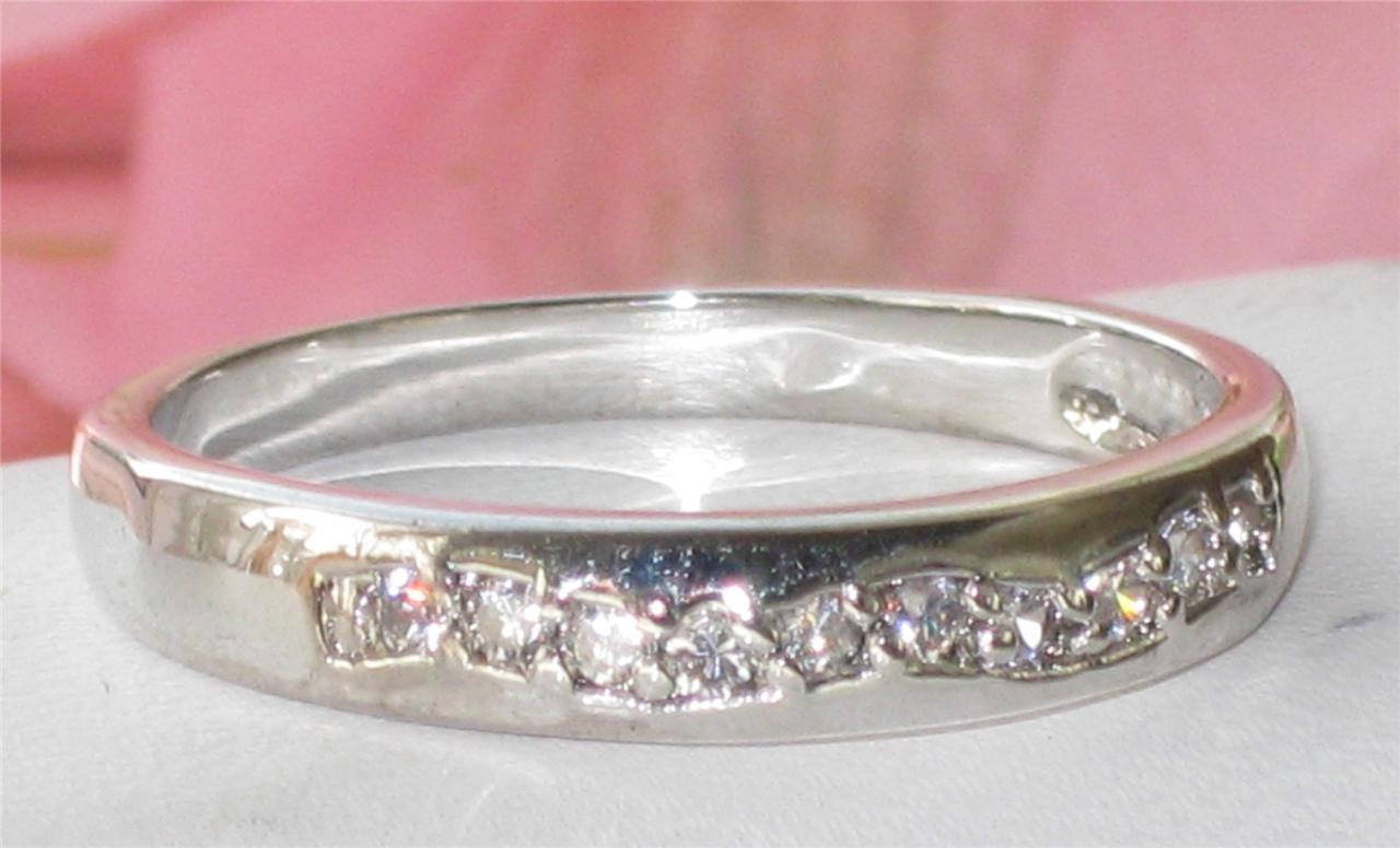 Sale 65ct Womens Eternity Simulated Diamond Ring BN027 3mm Wedding Band
