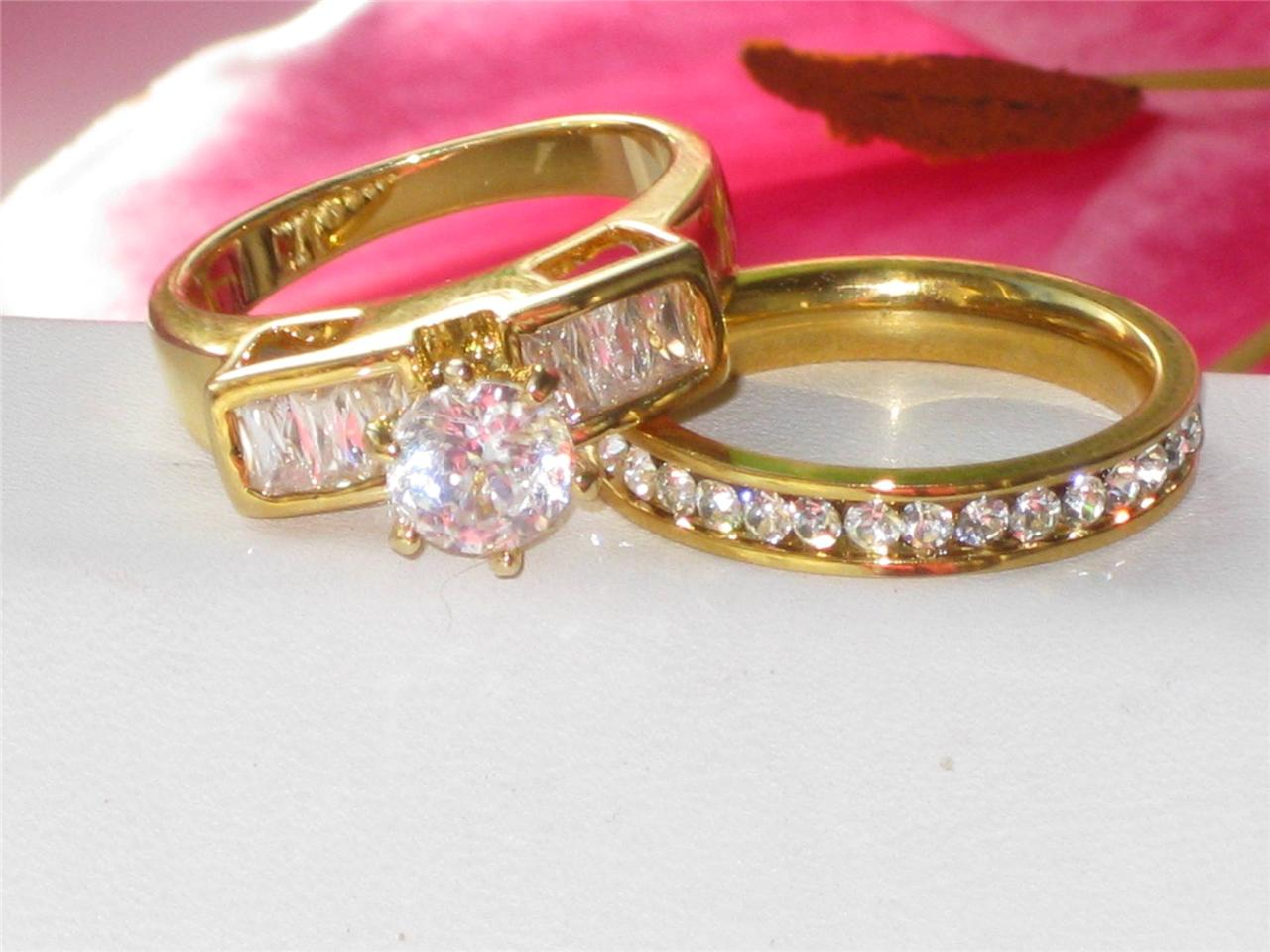 Sale 70 f Womens Baguette Solitaire Engagement Simulated Diamond Ring RG105