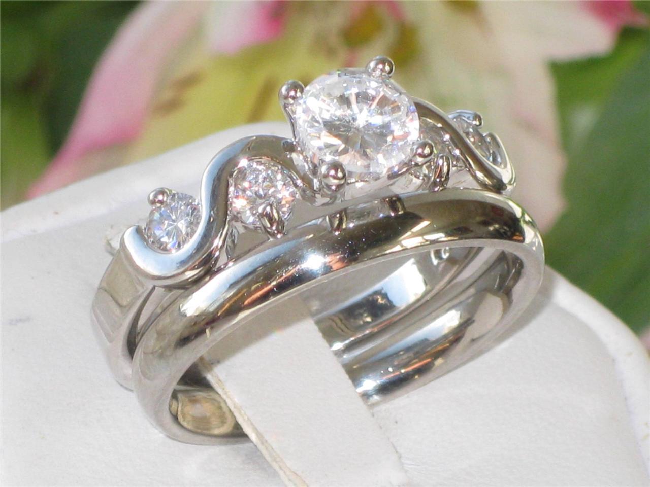 wedding band set 2pc 2 65ct swirl engagement ring