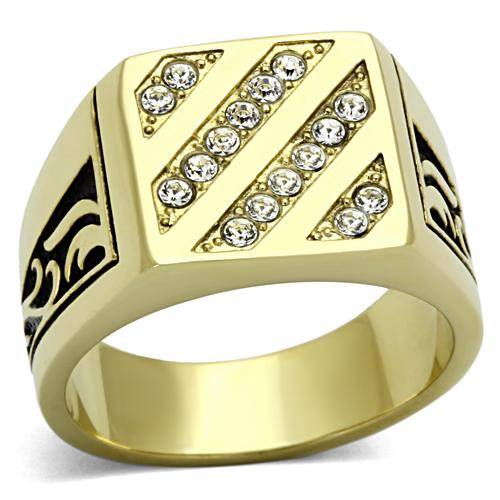 TK1189pb-MANS-SQUARE-FACE-4ROW-16STONE-MENS-RING-SIMULATED-DIAMOND-SIGNET