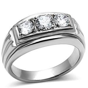 TK491PB-MENS-OR-WOMENS-3STONE-SIMULATED-DIAMOND-MANS-RING-STAINLESS-STEEL-316L