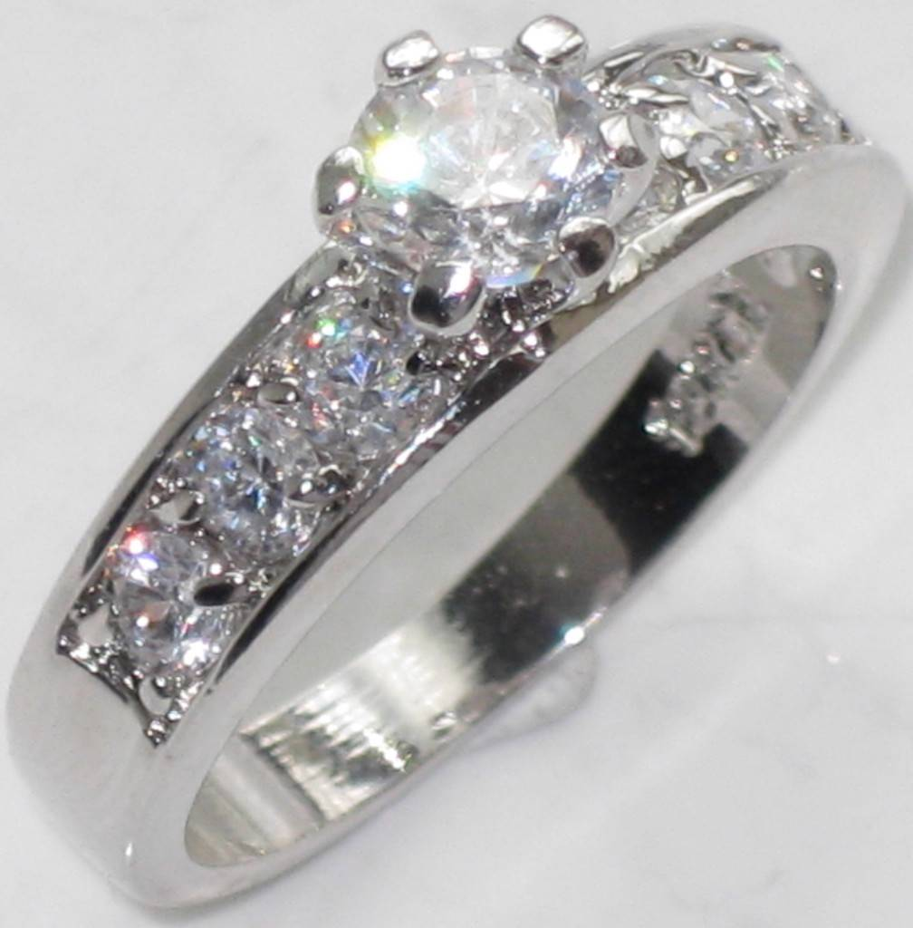 Sale Womens Sparkling 1 2ct Sparkling Engagement Simulated Diamond Ring CR41