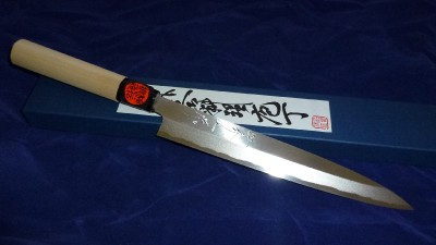 japanese damascus chefs knife yanagiba 210mm highest quality hand forged td042 ebay. Black Bedroom Furniture Sets. Home Design Ideas