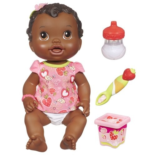 New Baby Alive Baby All Gone Doll Black African American Eats
