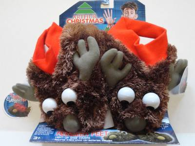 New arthur christmas movie reindeer feet light up shoe covers slippers