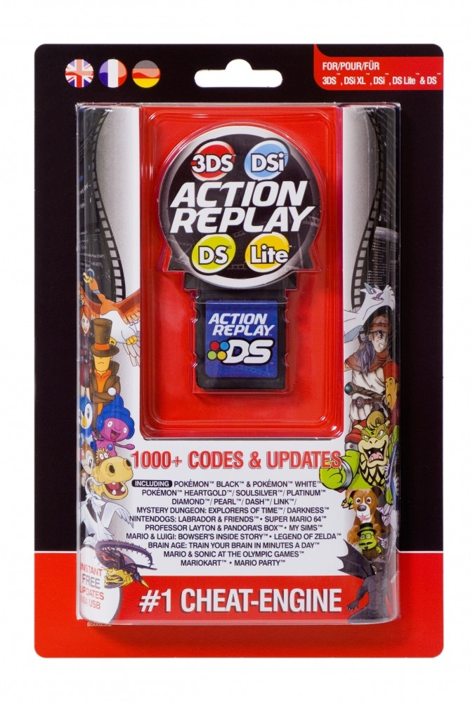 new nintendo datel action replay cheat system for 3ds dsi xl dsi ds lite ebay. Black Bedroom Furniture Sets. Home Design Ideas