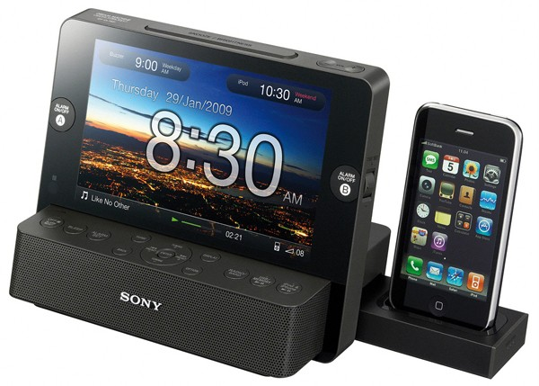 sony icf cl75ip dream machine iphone ipod dock alarm clock. Black Bedroom Furniture Sets. Home Design Ideas
