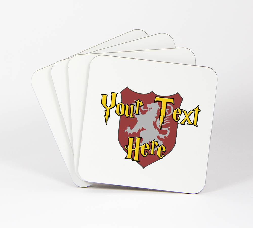 Harry-Potter-Theme-Set-of-4-Drink-Coasters-Your-Text-Here-Customizable-90C
