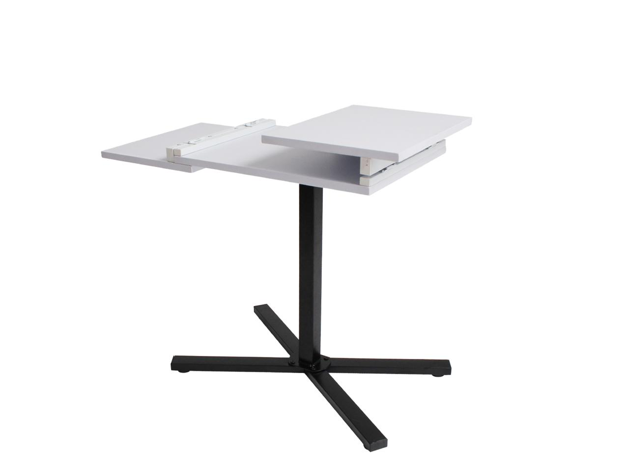 White adjustable smart laptop desk table mate foldable for Cuisine table retractable