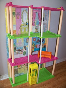 Vintage 1973 barbie townhouse with elevator couch ebay Elevator townhomes