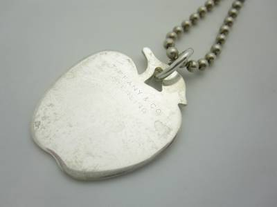 Rare Vintage Tiffany Amp Co Sterling Silver Apple Charm