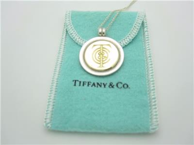 Tiffany Amp Co Sterling Silver Amp Gold Tiffany Logo Round