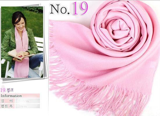 Cashmere Silk Solid Long Scarf Soft Shawl Wrap Hot 35 Colors U Pick