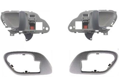 1995 1999 suburban tahoe gray inside door handles and bezels l r pair ebay for 1999 suburban interior door handle