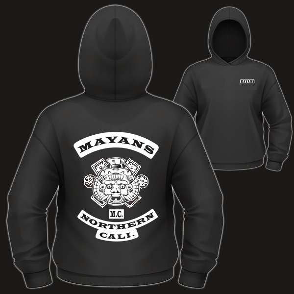 men 39 s pullover hoodie hoody mayan soa sons of anarchy. Black Bedroom Furniture Sets. Home Design Ideas