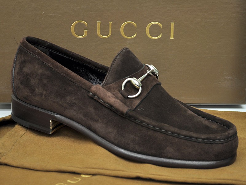 gucci mens shoes classic suede bit loafer 015938 12170