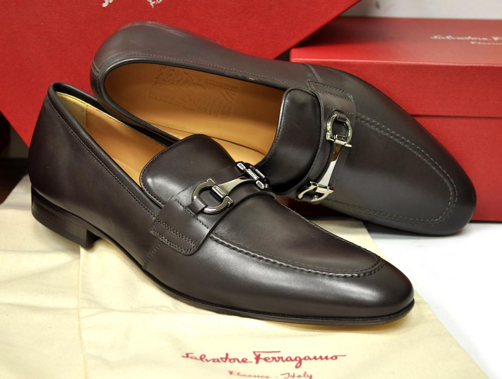 New Salvatore Ferragamo Mens shoes Dorsino Bit Brown $595 ...