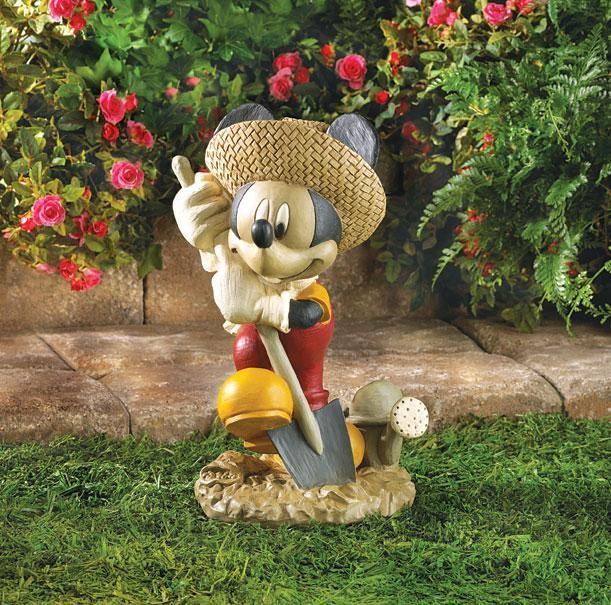 Mickey Mouse Figurine Statue Yard Garden Outdoor Art