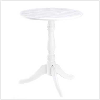 Details about french country white bedside pedestal accent end table