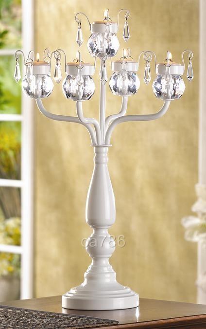 Large white candelabra quot tall wedding centerpiece ebay