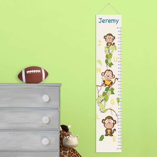 Personalized-Kids-Boy-Girl-Height-Chart-Wall-Art-Canvas-Child-Room-Decorations