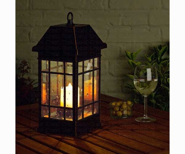 details about large black solar powered mission lantern outdoor light
