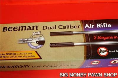 NEW BEEMAN DUAL CALIBER AIR RIFLE SILVER KODIAK X2 PELLET GUN MODEL