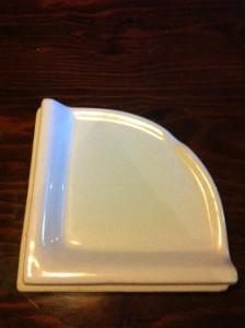 white ceramic shower corner wall shelf tile bathroom ebay. Black Bedroom Furniture Sets. Home Design Ideas