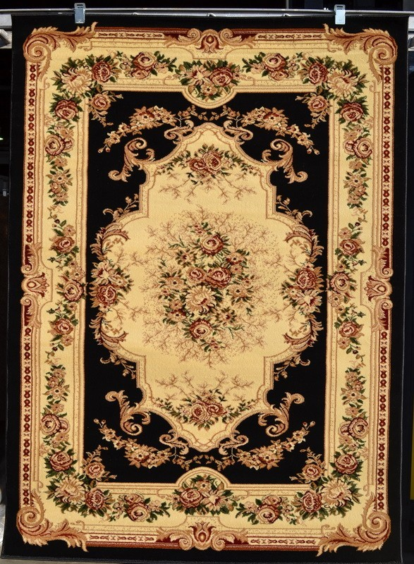 Burgundy Green Victorian 5x7 Area Rug Carpet Traditional