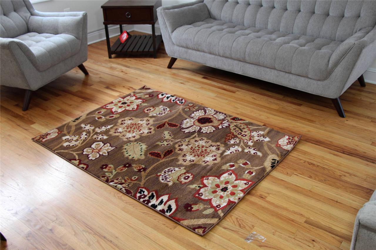 1023 Brown Burgundy Beige Rust Area Rugs Floral Carpet 2x3 4x5 5x7 8x10 10x13 : eBay
