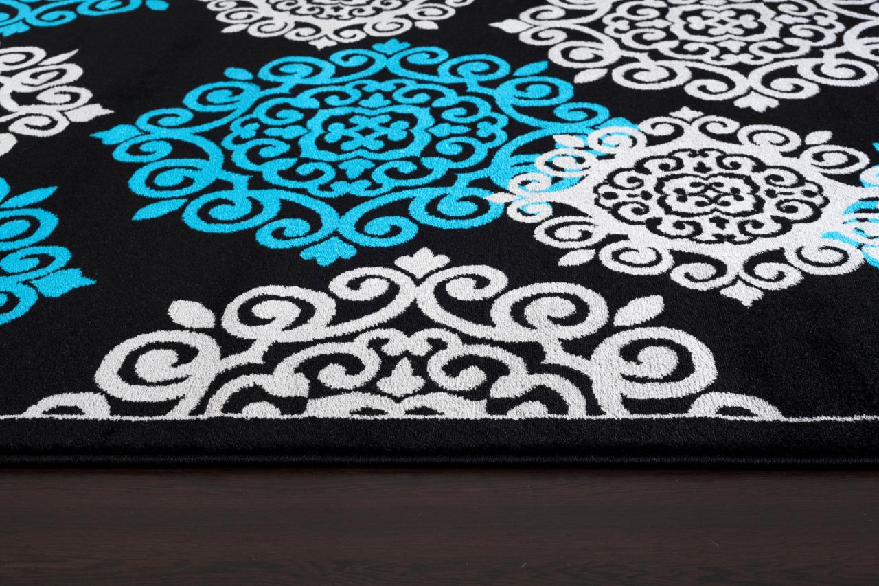 Original item: Turquoise Contemporary Area Rug 5x7 Modern Carpet
