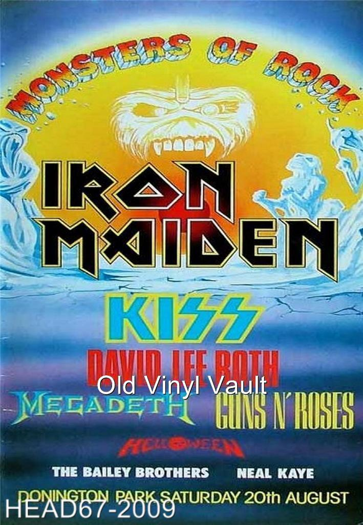 Iron Maiden Monsters Of Rock Donington Park Uk August 20th